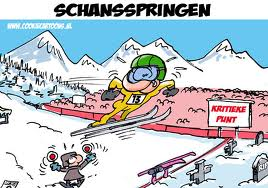 Schansspringen door Cookiecartoons.nl