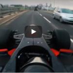 F1 auto straat Engeland