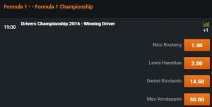 Wedden op F1 Grand Prix